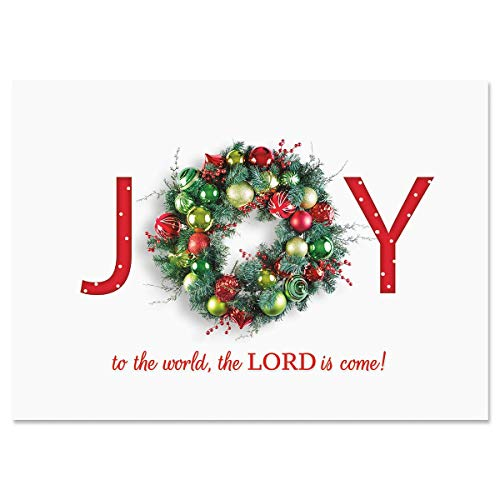 Great Joy Religious Christmas Cards - Holiday Greeting Cards, Set of 18, Large 5