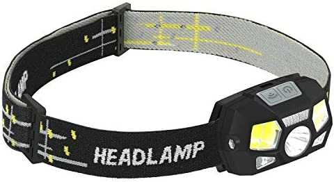 LED Headlamp Flashlight Fishing 3 Modes Zoomable for Hiking Reading Outdoor Sports Seanado Snado 2000lm Super Bright rechargeable Headlight Flashlight Camping Hunting Waterproof