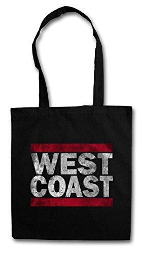 WEST COAST Hipster Shopping Cotton Bag Borse riutilizzabili per la spesa