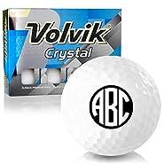 Volvik Crystal White Monogram Personalized Golf Balls