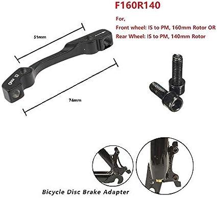 Bike Disc Brake Caliper Mount Adapter Front 160//180 Rear 140//1 CZ