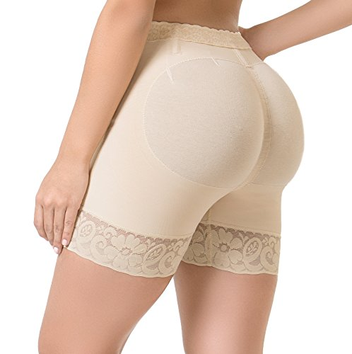 Lifter Flex (Body Flex Butt Lifter Shorts Levanta Cola Colombianos High-Compression Girdle Firm Control Panties (Beige, X-Small))