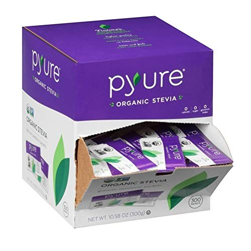 Organic Stevia Sweetener Packets, 0 Calorie, Sugar Substitute, 300Count by Pyure (Image #2)