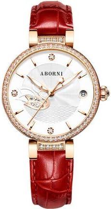 WLKVUOT 女性の自動腕時計ファッション革ストラップ機械式時計レディ高級時計時計すべての機会のための高級女性腕時計