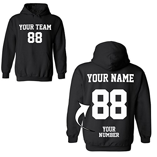 Tee Miracle Design Your Own Hoodie - 2 Sided Custom Jersey Hoodies Pullover Team Sweatshirts by Tee Miracle