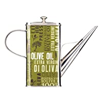 World Of Flavours Italian 500ml Stainless Steel Oil Drizzle Can - Yellow