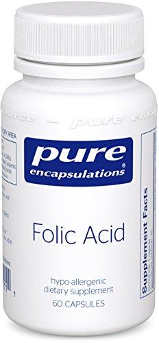 Pure Encapsulations - Folic Acid - Hypoallergenic Dietary Supplement - 60 Capsules -