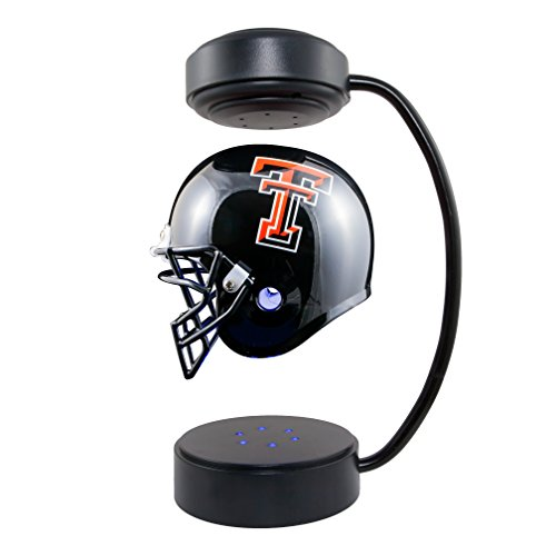 Texas Tech Mini Helmet (Texas Tech Red Raiders  NCAA Hover Helmet - Collectible Levitating Football Helmet with Electromagnetic Stand)