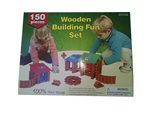 Wooden Building Fun Set 150 Piece By Dollar General