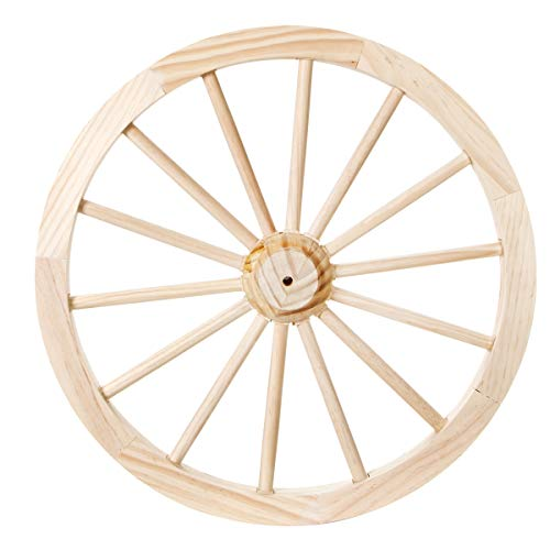 (DARICE 9135-13 Unfinished Wood Decorative Wagon Wheel: 23.5 inches)