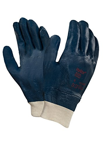 Gloves Ansell Cotton (Ansell 474029 Hylite 47-402 Nitrile Coated Gloves, 10