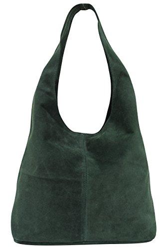 para verde mujer cuero WL818 oscuro de Bolso para hombro dXqHd0n