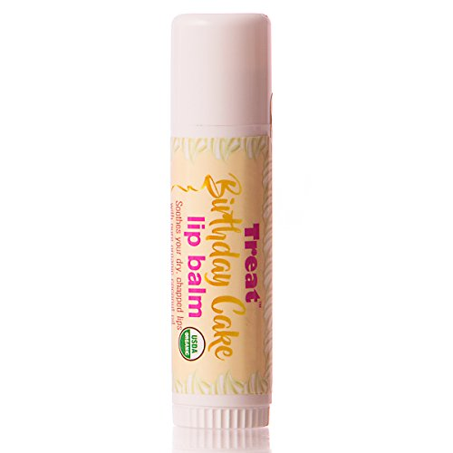 Treat Jumbo Lip Balm  Organic   Cruelty Free   50 Oz   Birthday Cake