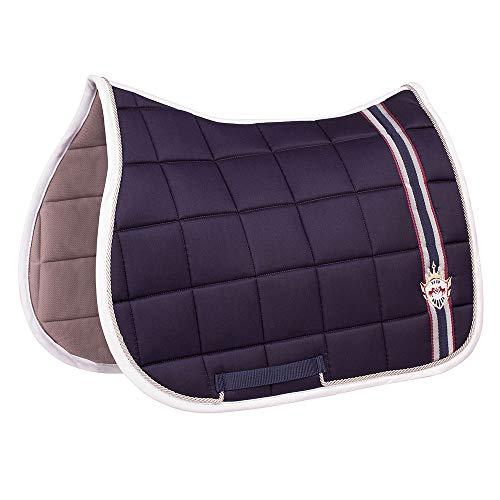 Equine Saddle Pads - Equine Couture Devon All Purpose Saddle Pad| Horse Riding Equestrian Saddle Pad | Size- Standard | Color- EC Navy