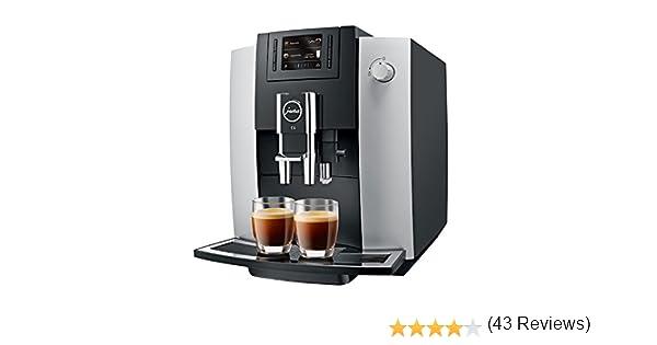 Jura Impressa E6 - Cafetera (Independiente, Totalmente automática, Espresso machine, Granos de café, Capuchino, Café, Negro, Plata): Amazon.es: Hogar