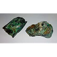 2pc #2A Raw Chrysocolla Natural Rough free form Crystal Healing Gemstone Cluster Specimen Stones