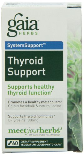 Gaia Herbs Thyroid Support Liquid Phyto-Capsules, 60 Count