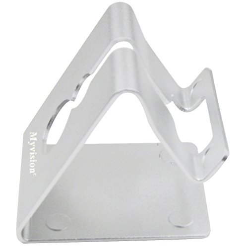 Myvision Desktop Cell Phone Stand Portable Aluminum Cellphone Cradle Tablet Stands Holders(Silver Color)