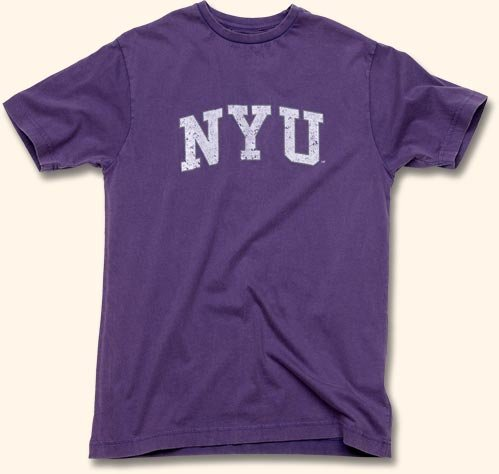 Amazon.com  New York University NYU Arch Logo T-Shirt by Red Jacket ... b87c7df44