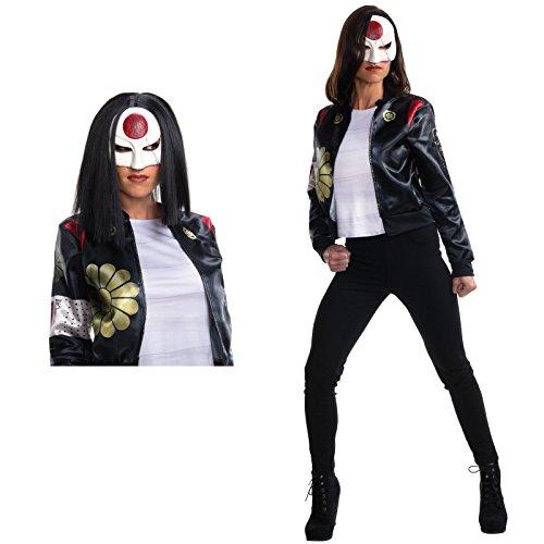 [Suicide Squad: Katana Adult Costume Bundle Set Kit - Medium] (Katana Dc Costume)