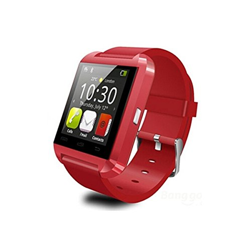 U8 Wearable 1.45″ Touch Screen Smart Bluetooth Watch w/ Pedometer /Barometer /Altimeter /Stopwatch – Red