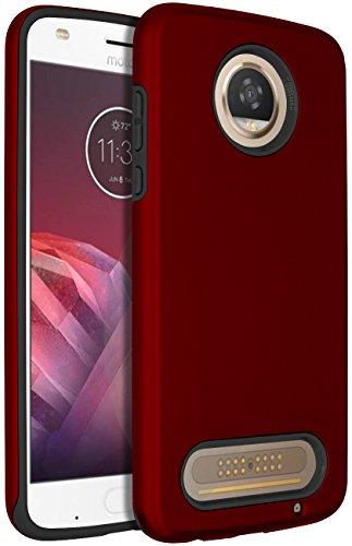Moto Z2 Play Case,SENON Slim-fit Shockproof Anti-Scratch Anti-Fingerprint Protective Case Cover for Motorola Moto Z2 Play Red