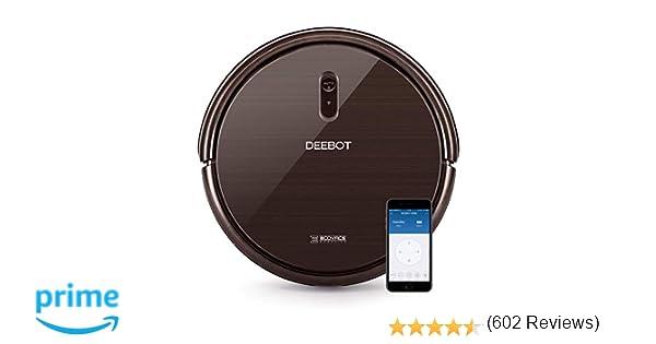 Ecovacs Deebot N79S - Robot Aspirador navegación aleatoria, control por App y Alexa, Wifi, 4 modos de limpieza, 2 niveles de succión, suelos duros y ...