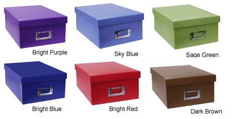 Pioneer Photo Storage Box (Assorted Colors) - Two Pack by Pioneer Photo Albums