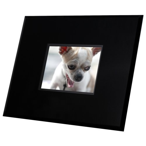 (Tao 89351 5.6-Inch 128MB 5-Inch x 7-Inch Contemporary Digital Frame (Black Acrylic))