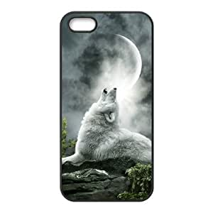 Customized case Of Wolf Howling Hard Case for iPhone 5,5S