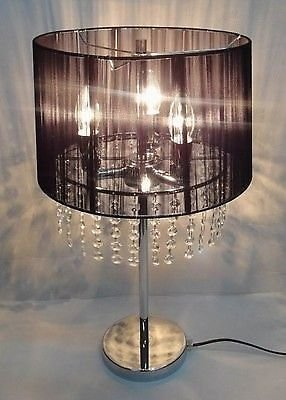 Chandelier Table Lamp Black