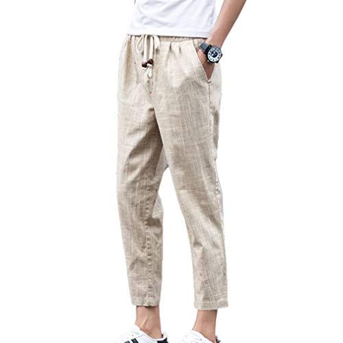 Colore Tinta Colour c4 Casual 3 Size Lacci Solido Pantaloni Colori Unita Plus Traspiranti 5 In Completo 4 Leggeri Lino Leggero Da Uomo Di Comodi wPTuOkXZi