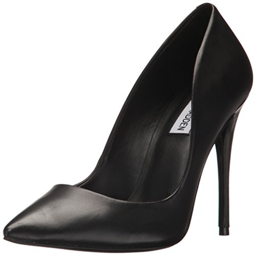 Steve Madden Women's Daisie Dress Pump, Black Leather, 8 M US