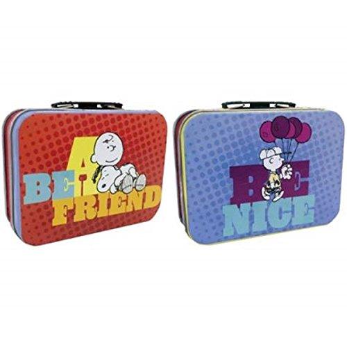 Wl Ss Wl 24429 Peanuts Charlie Brown  Be A Friend   Be Nice  Snoopy Mini Tin Totes