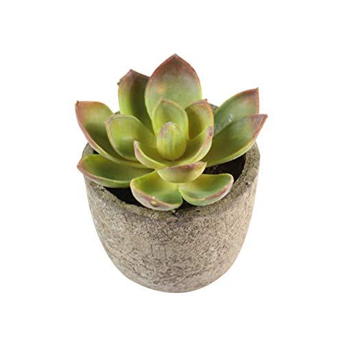 TOYANDONA Mini Plantas suculentas Artificiales Faux Suculentas Cactus Simulación Cactus en Maceta para el hogar Decoración...