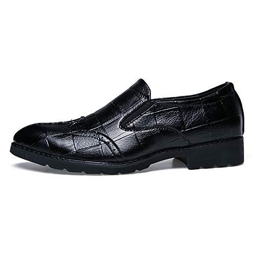 para de y Oxford de Suave Moda Zapatos Oxford Informal de Negro Punta Hombres Bricolaje Moda Transpirable XStq8