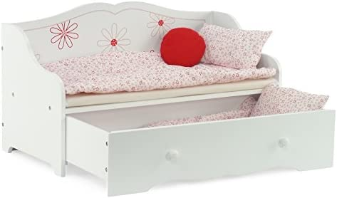 """Emily Rose Doll Clothes 18/"""" Doll Bed Daybed and Trundle Fits American Girl Dolls"""