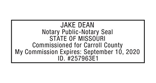 Notary Stamp for State of Missouri- Self Inking Stamp, Customize Online