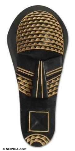 Amazon.com: Novica decorativo grande sese madera máscara ...