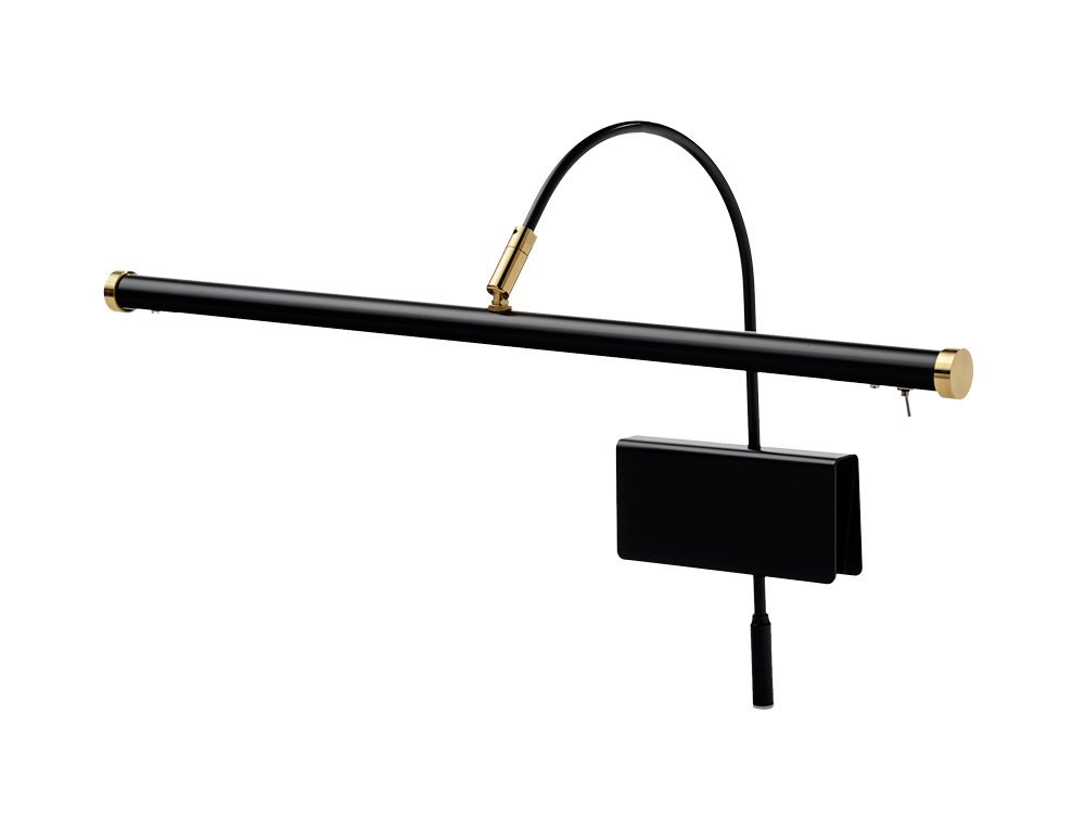 Cocoweb 19'' Dimmable Adjustable Energy-efficient LED Grand Piano Clip-on Lamp with Rotational Light Shade - Black with Brass Accents - GPLED19D by Cocoweb