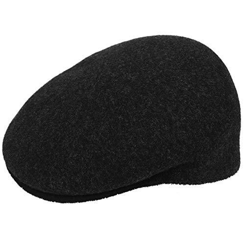 (Kangol Men's Wool 504-S Flat Ivy Cap HAT, Marl/Black, M)