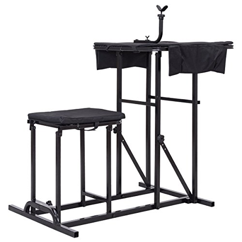 Folding Shooting Bench Seat with Adjustable Table Gun Rest Height Adjustable by BUY JOY (Image #3)