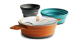Sea to Summit X-SET 21 (3 Piece) X-Pot & Bowl & Mug, 1.4 L, Orange