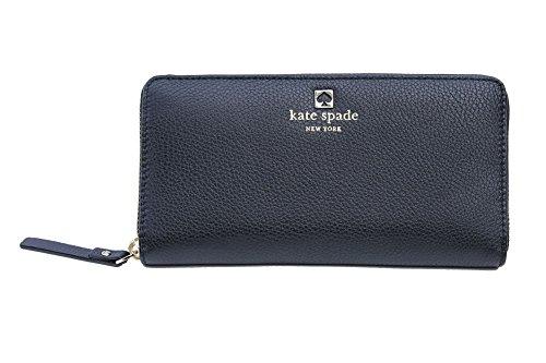 (Kate Spade New York 'Grant Park Neda' Leather Zip Around Wallet (Black))