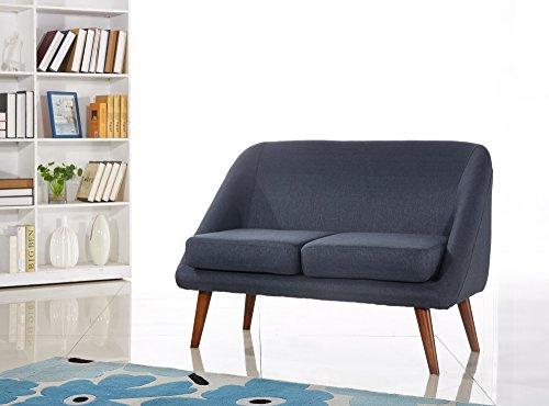 US Pride Furniture Fabric Modern Style Loveseat, (Modern Style Loveseat)