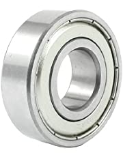 """uxcell a13110600ux0448 17mm/40mm/12mm Metal Sealed Deep Groove Ball Bearing 6203Z, 0.47"""" width, 0.67 Metal"""