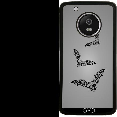 Funda de silicona para Moto G5 Plus - Tribus Murciélago Negro Para Hombre Gris by Nina Baydur