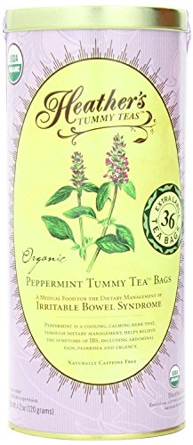 (Heather's Tummy Teas Organic Peppermint Tea for IBS, 36 Jumbo Teabags)
