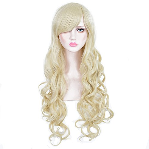 CosHouse Women Sexy Long Wavy Wigs Light Blonde Cos Hair for Theme Party 31 (Coshouse Costumes)