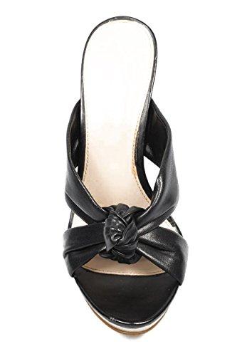 NINE WEST - Sandalias Para Mujer NWAMMO BLACK Tacón: 11 cm